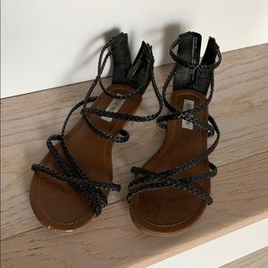 Steven madden braided sandals size 7.5/8